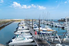 Arcachon, France, the marina. Colored boats in the marina of Arcachon, France Royalty Free Stock Photography