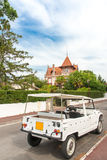 Arcachon, France, the old town. Typical house and car in the old town of Arcachon, the Winter Town Stock Photos