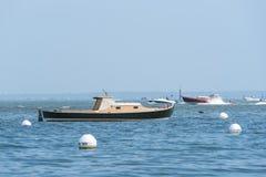 Arcachon, Francia, barche tipiche ha chiamato Pinasses Fotografie Stock Libere da Diritti