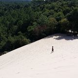 Arcachon. Pyla La duna,  the most amazing sand dunes in Europe Royalty Free Stock Images