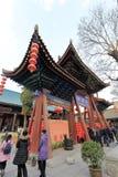 Arcada adornada del templo del chenghuangmiao de xian, adobe rgb Imagen de archivo