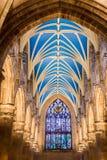 Arcada bonita na catedral de Edimburgo Fotografia de Stock