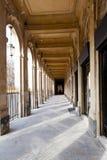 Arcada do palácio Palais-Real em Paris Fotos de Stock Royalty Free
