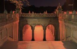 Arcada de la terraza de Bethesda imagenes de archivo
