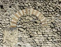 Arcada de pedra em Pompeii Itália Fotos de Stock Royalty Free