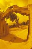 Arcada de pedra natural na entrada de automóveis do sudoeste, nanômetro Fotos de Stock