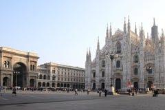 Arcada de Vittorio Emanuele II da galeria e domo, Milão Fotografia de Stock Royalty Free