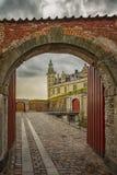 Arcada del castillo de Kronborg fotos de archivo