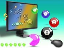 Arcada dos jogos onlines Imagens de Stock Royalty Free