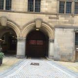 Arcada en ayuntamiento de Sheffield fotografía de archivo libre de regalías