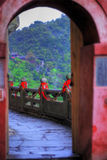 Arcada en el templo del Shan de Wudang Imagen de archivo libre de regalías