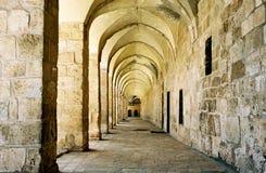 Arcada en Jerusalén. foto de archivo