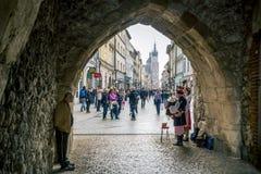 Arcada en Kraków Fotos de archivo