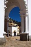 Arcada en la basílica de Copacabana, Bolivia Foto de archivo