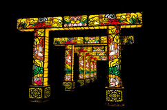 Arcada iluminada Imagem de Stock