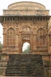 Arcada a Jami Masjid, Champaner Fotografía de archivo libre de regalías