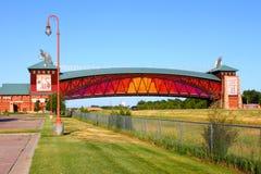 Arcada Nebraska da estrada de Great Platte River Fotografia de Stock Royalty Free
