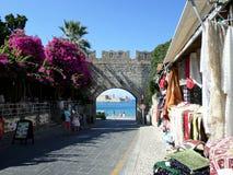 Arcada no Rodes, Grécia Foto de Stock Royalty Free
