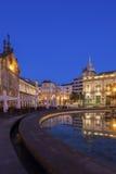 Arcada on Plaza de la Republica in Braga at dawn Royalty Free Stock Image