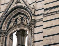 Arcada Siena Cathedral Fotografia de Stock Royalty Free