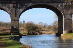 Arcada sobre el río Fotografía de archivo