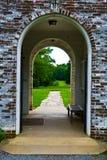 Arcada vieja del ladrillo Imagen de archivo libre de regalías