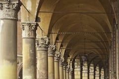 Arcadas de Bolonia Foto de archivo libre de regalías