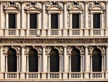 Arcadas de la plaza di San Marco, Venezia Foto de archivo