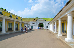 Arcadas de troca de Kostroma, Kostroma, anel dourado de Rússia Foto de Stock