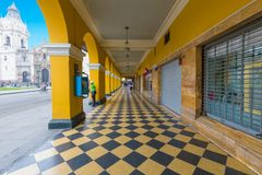 Arcadas en Jiron Callao Lima Fotos de archivo libres de regalías