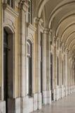Arcadas en la ciudad de Lisboa imágenes de archivo libres de regalías