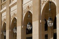 Arcadas en Palais Royal Fotos de archivo