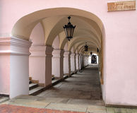 Arcadas en Zamosc Imagen de archivo libre de regalías