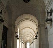 Arcadas na estação da união Fotografia de Stock Royalty Free