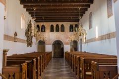 Arcade για το gentlefolk σε μια μεσαιωνική εκκλησία Στοκ Εικόνες