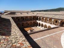 Arcade σε Assisi Στοκ Εικόνες
