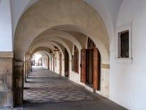 Arcade στην οδό Loretanska, Πράγα Στοκ Φωτογραφία