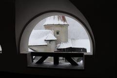Arcade στο κάστρο πίτουρου, κοντά σε Brasov Στοκ φωτογραφίες με δικαίωμα ελεύθερης χρήσης