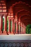 Arcade στο κόκκινο οχυρό, Δελχί, Ινδία Στοκ Εικόνες