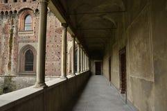 Arcade στο Castello Sforzesco Στοκ Εικόνα