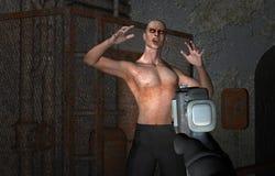 arcade τηλεοπτικό βίαιο zombie παιχν Στοκ Φωτογραφία