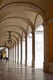 Arcade του ανώτατου Δικαστηρίου στη Λισσαβώνα Στοκ Φωτογραφία