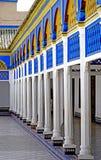 Arcade του παλατιού EL Bahia στο Μαρακές Στοκ εικόνα με δικαίωμα ελεύθερης χρήσης