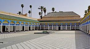 Arcade του παλατιού EL Bahia στο Μαρακές Στοκ εικόνες με δικαίωμα ελεύθερης χρήσης