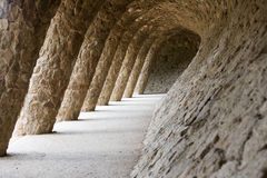 Arcade. Gaudi arcade in a wave shape Royalty Free Stock Image