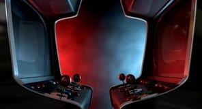 Αντιτιθέμενη μονομαχία μηχανών Arcade Στοκ εικόνα με δικαίωμα ελεύθερης χρήσης