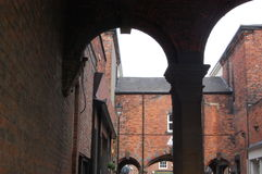 The Arcade. Arcade arches in tynemouth village Royalty Free Stock Photography