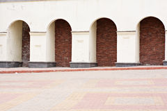 Arcade. Architectural details, Vitebsk, Belarus Royalty Free Stock Photography