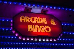 Arcade And Bingo Sign retro fotos de stock