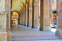 Arcade in Bologna Royalty Free Stock Photos